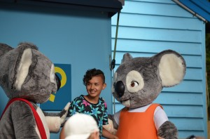 Mateo with Blinky Bill amd his Mates!!!