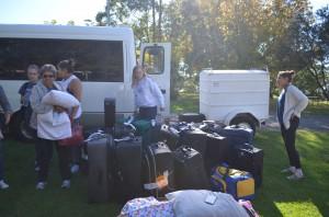Unloading at Mt. Tamborine