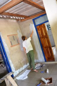Getting started on painting the kitchen